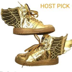 Adidas Jeremy Scott Gold Wings for kids size 5K
